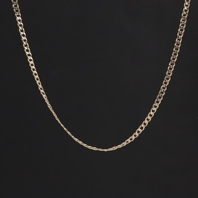 10K Yellow Gold Curb Chain Necklace