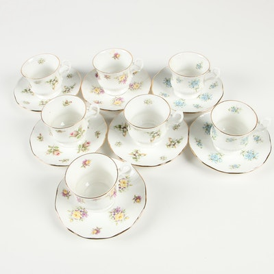 Royal Dover and Regal Heritage Bone Chine Demitasse Teacups and Saucers