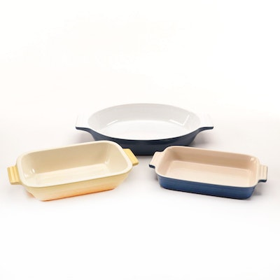 Le Creuset and Cuisinart Ceramic Baking Dishes