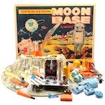 Louis Marx Operation Moon Base Toy Play Set with Box, circa 1965