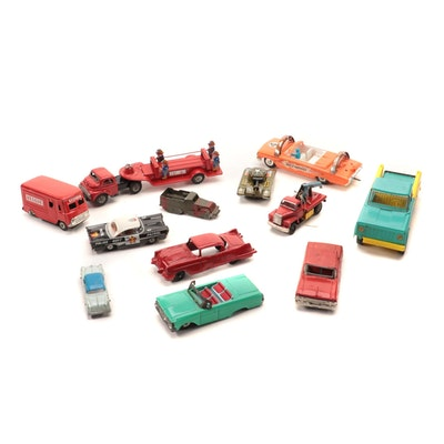 Diecast, Tin, and Plastic Model Cars and Trucks, Mid-Century