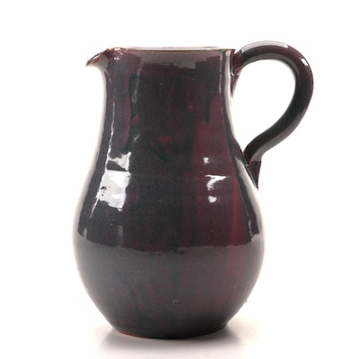 Glazed Earthenware Pitcher