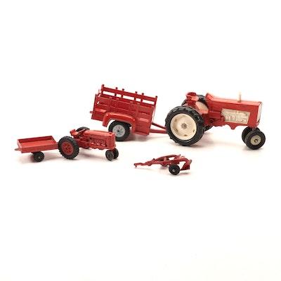 Hubley Die Cast Farm Tractors, 1960s