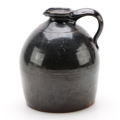 S. Hart Salt Glazed Stoneware Gallon Jug, Mid-19th Century