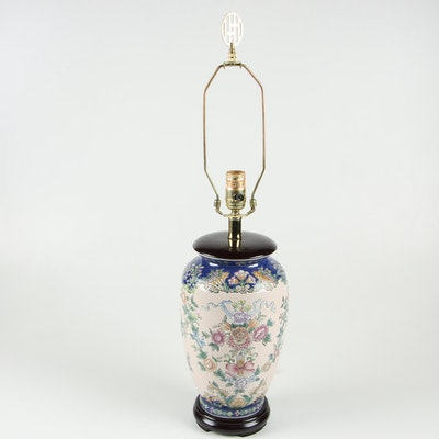 Chinese Converted Ceramic Vase Table Lamp