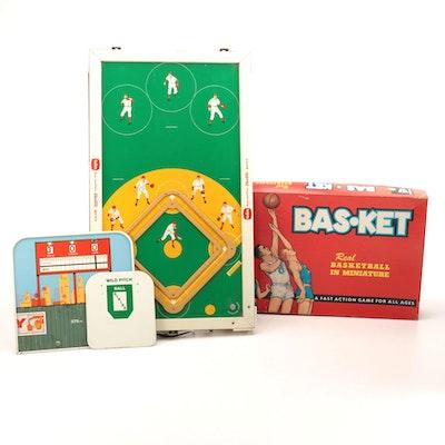 Cadaco and Tudor Basketball and Baseball Games, 1960s