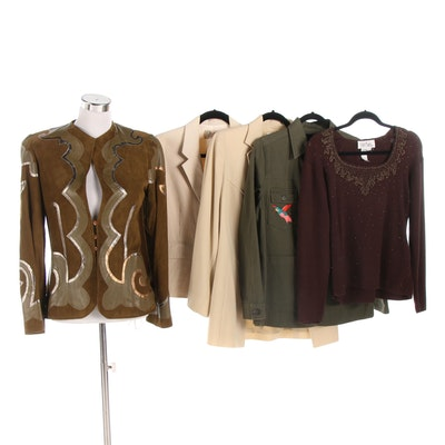 Giorgio Sant'Angelo Suede Jacket, Bob Mackie Sweater and Other Separates