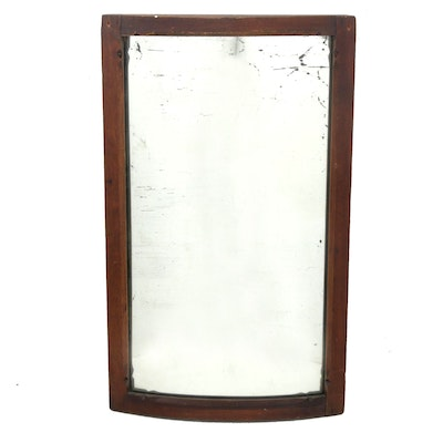 Wood Framed Convex Wall Mirror, Antique
