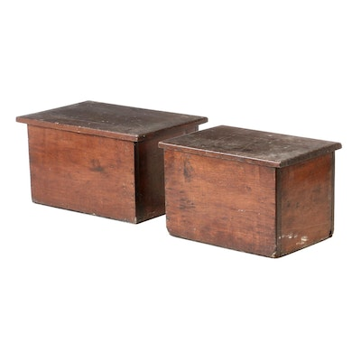 Antique Birch Chests, 19th Century