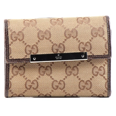 Gucci GG Supreme Canvas Trifold Wallet