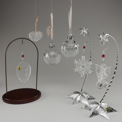 Waterford Crystal Ornaments and Display Stands