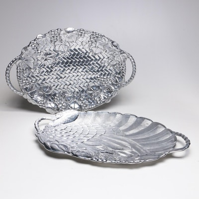 Lenox Aluminum Serving Platters, Late 20th Century