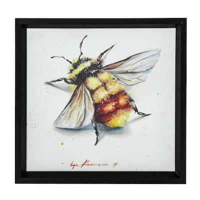 Oil Painting of a Honey Bee