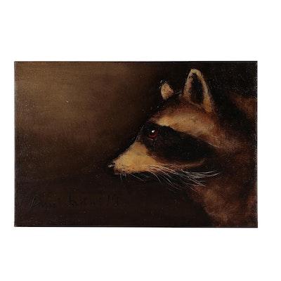 David Andrews Raccoon Oil Painting