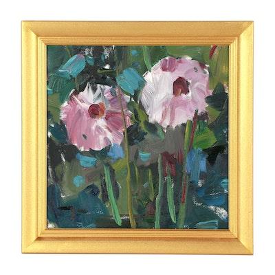 "Jose Trujillo Oil Painting ""The Garden"""