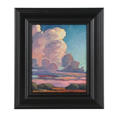 William Hawkins American Landscape Oil Painting
