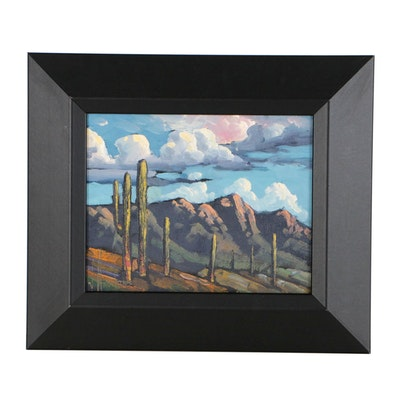 William Hawkins Southwestern Landscape Oil Painting