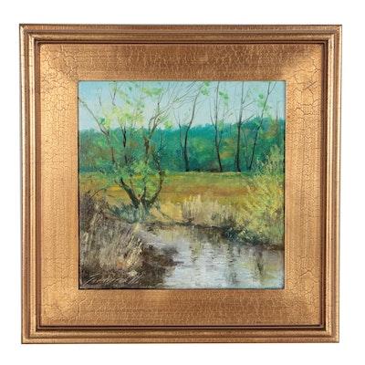 "Garncarek Aleksander Oil Painting ""Wiosennie"""