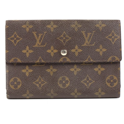 Louis Vuitton Monogram Canvas Porte Tresor Etui Papiers Wallet, 1980s Vintage