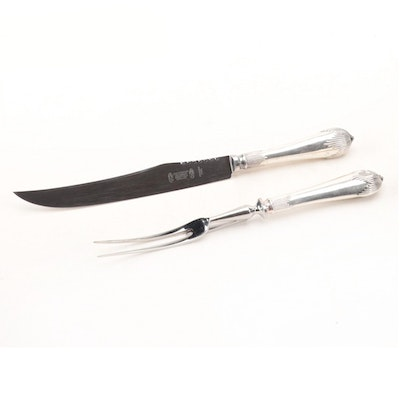 Cheltanham and Company Silver Plate and Stainless Steel Carving Set