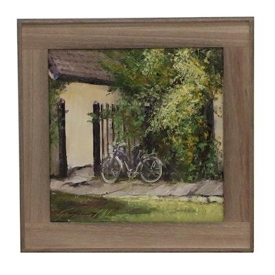 """Garncarek Aleksander Oil Painting """"Rower"""""""