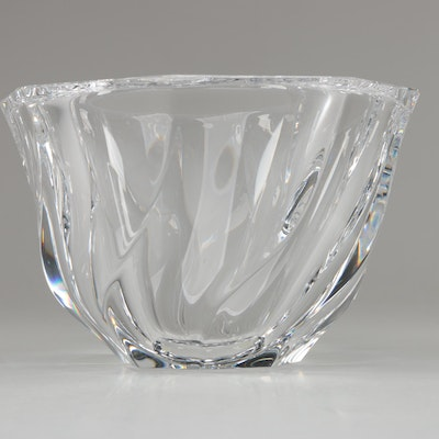 "Orrefors ""Residence"" Crystal Bowl, Mid to Late 20th Century"