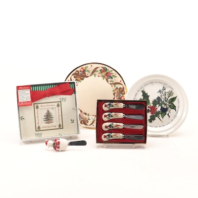"""Lenox """"Winter Greetings"""" Spreaders and Other Holiday Themed Table Accessories"""