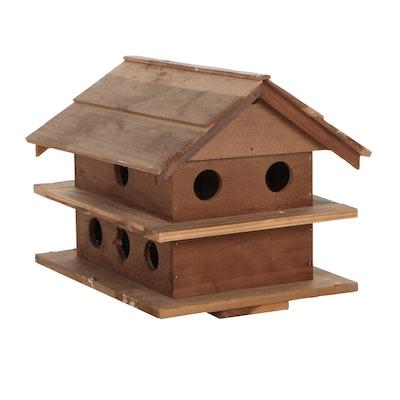 Handmade Cedar Birdhouse Feeder, Contemporary