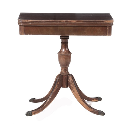 Federal Style Mahogany Finish Card Table, Early 20th Century
