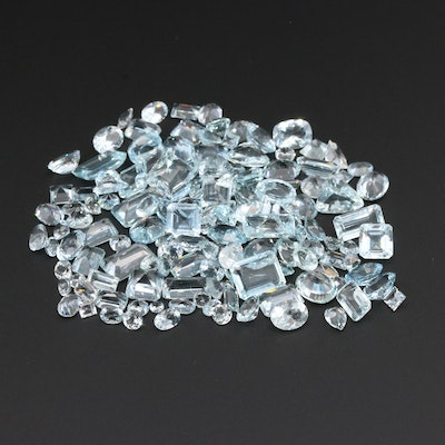 Loose 100.52 CTW Natural and Synthetic Aquamarine Gemstones