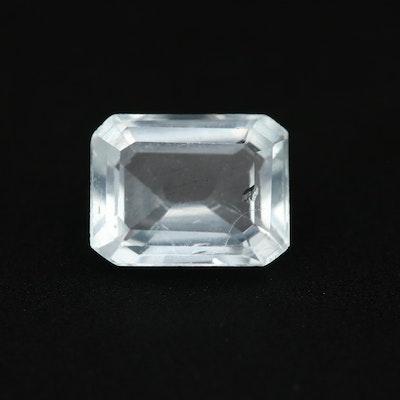 Loose 1.26 CT Aquamarine Gemstone