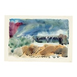 Jack Meanwell Watercolor Landscape Painting