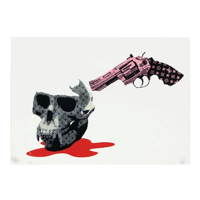 Death NYC Offset Lithograph Graphic Print