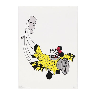 Death NYC Offset Lithograph of Mickey Mouse