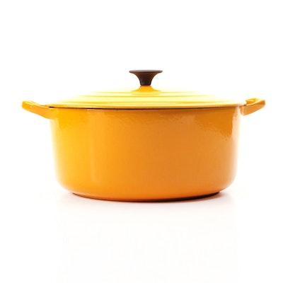 Le Creuset Mustard Yellow Enameled Cast Iron 4.5 qt. Dutch Oven