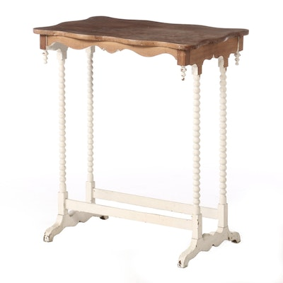Early Victorian Painted Cottage Table, Early 19th Century