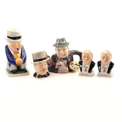 Royal Winton and Spode with other Winston Churchill Collectibles