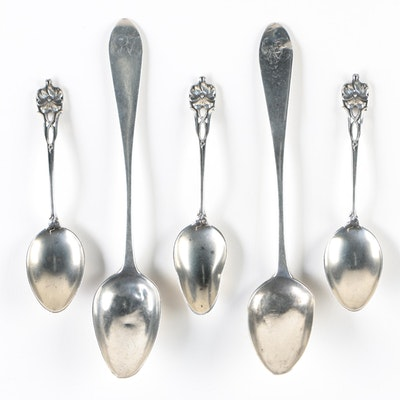 Watson Sterling Demitasse Spoons and American Coin Silver Demitasse Spoons
