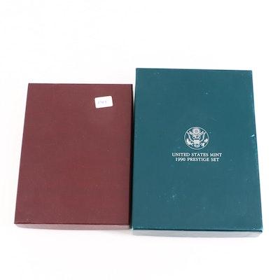 1984 and 1990 U.S. Mint Prestige Proof Sets