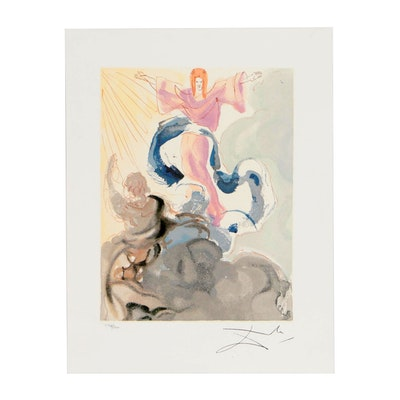 "Offset Lithograph after Salvador Dalí ""Heaven Canto 3"""