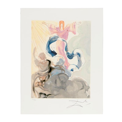 "Offset Lithograph after Salvador Dalí ""Heaven Canto 3"""