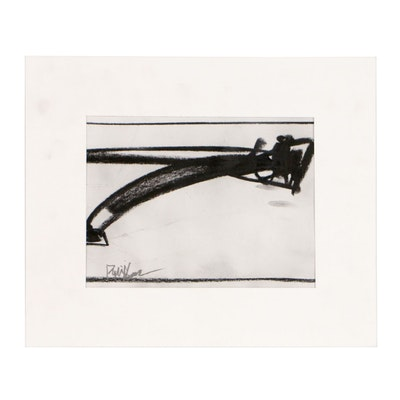 "Robbie Kemper Charcoal Drawing ""Shape 105"""
