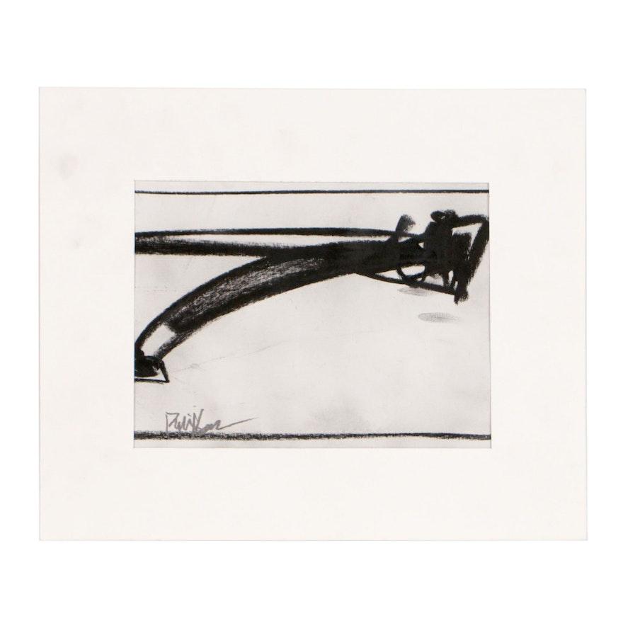 "Robbie Kemper Charcoal Drawing ""Shape 105"""