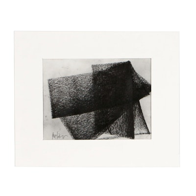 "Robbie Kemper Charcoal Drawing ""Shpae 104"""