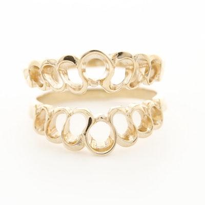 14K Yellow Gold Ring Jacket