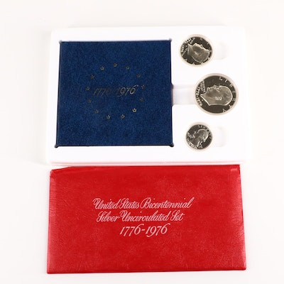 1976 U.S. Bicentennial Silver Coin Proof Set and Uncirculated Set