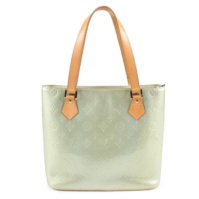 Louis Vuitton Gris Art Deco Monogram Vernis Leather Houston Tote Bag