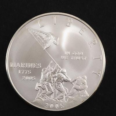 2005 Marine Corps 230th Anniversary Commemorative Uncirculated Silver Dollar
