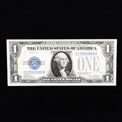 Series of 1928 $1 Silver Certificate