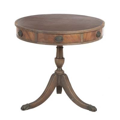 Regency Style Mahogany Drum Table, Early 20th Century
